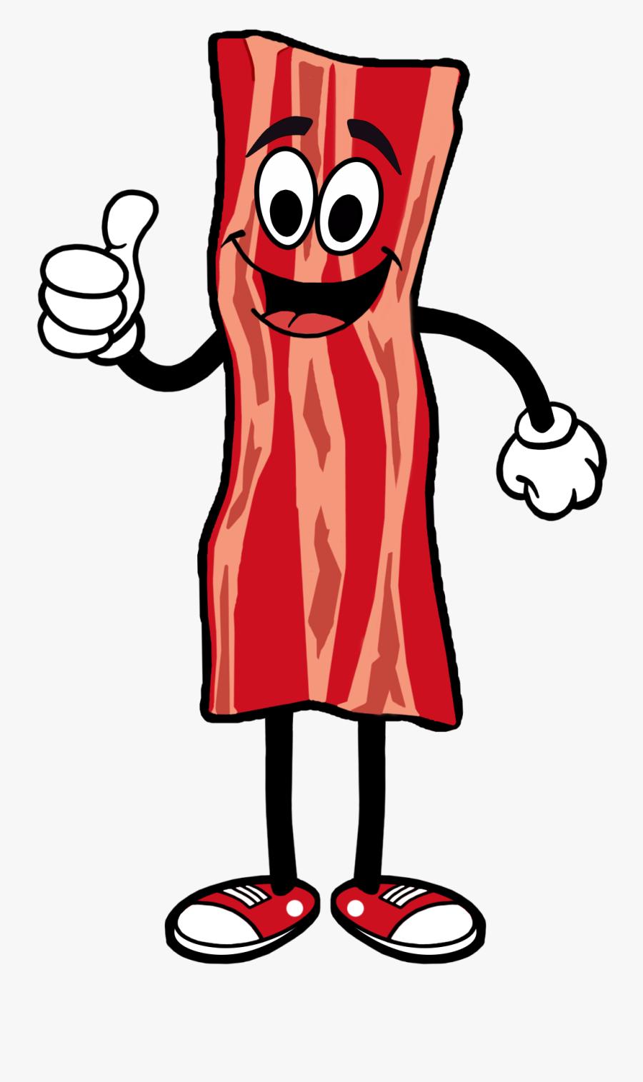 Bacon Cartoon Transparent Background.