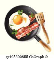 Bacon Eggs Clip Art.