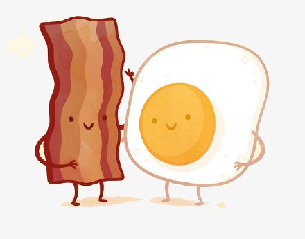 Download Free png flat bacon and eggs, Flat Mat.