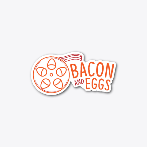Bacon and Eggs Logo Sticker.