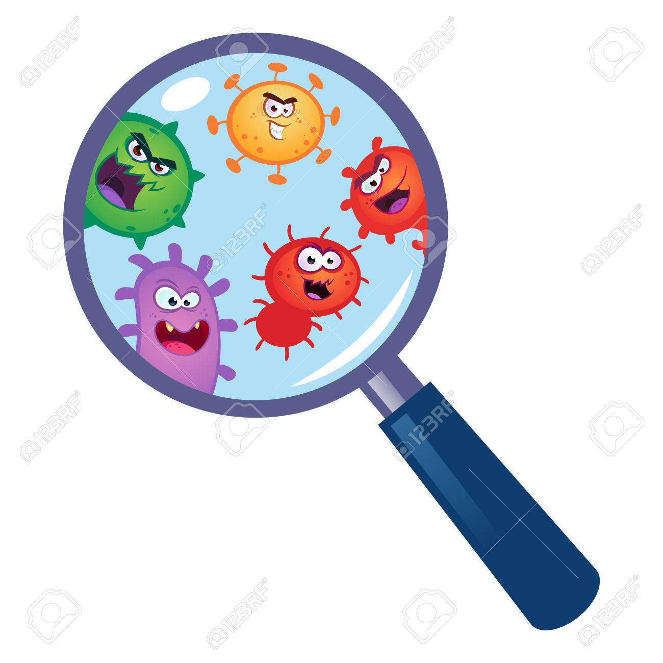 Bacteria magnifying glass clipart transparent clipart images.