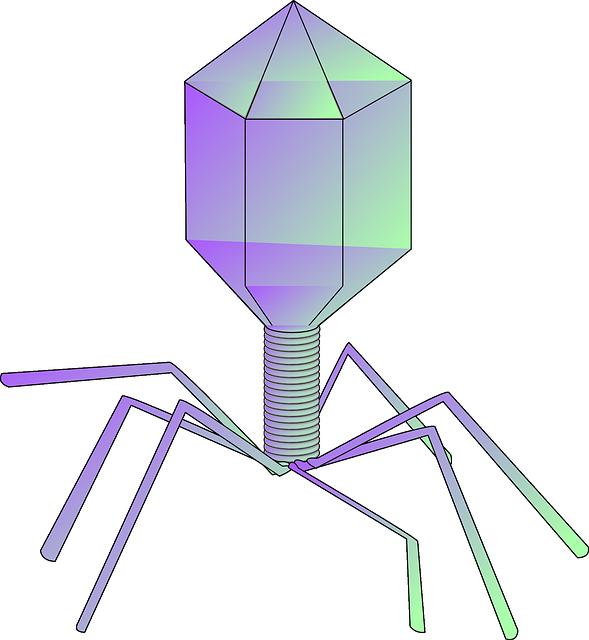Free vector graphic: Bacteriophage, Virus, Phage.