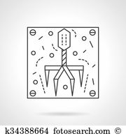 Bacteriophage Clipart EPS Images. 20 bacteriophage clip art vector.