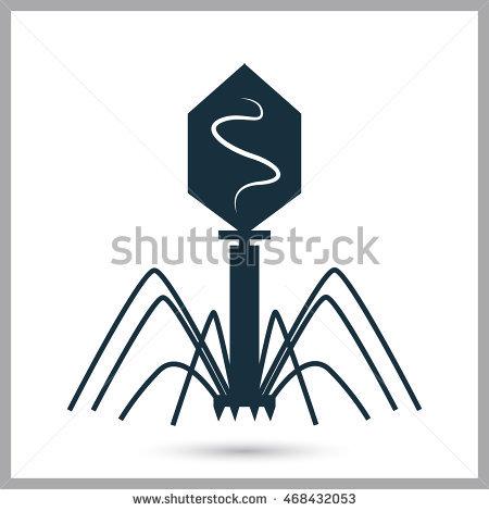Bacteriophage Stock Photos, Royalty.