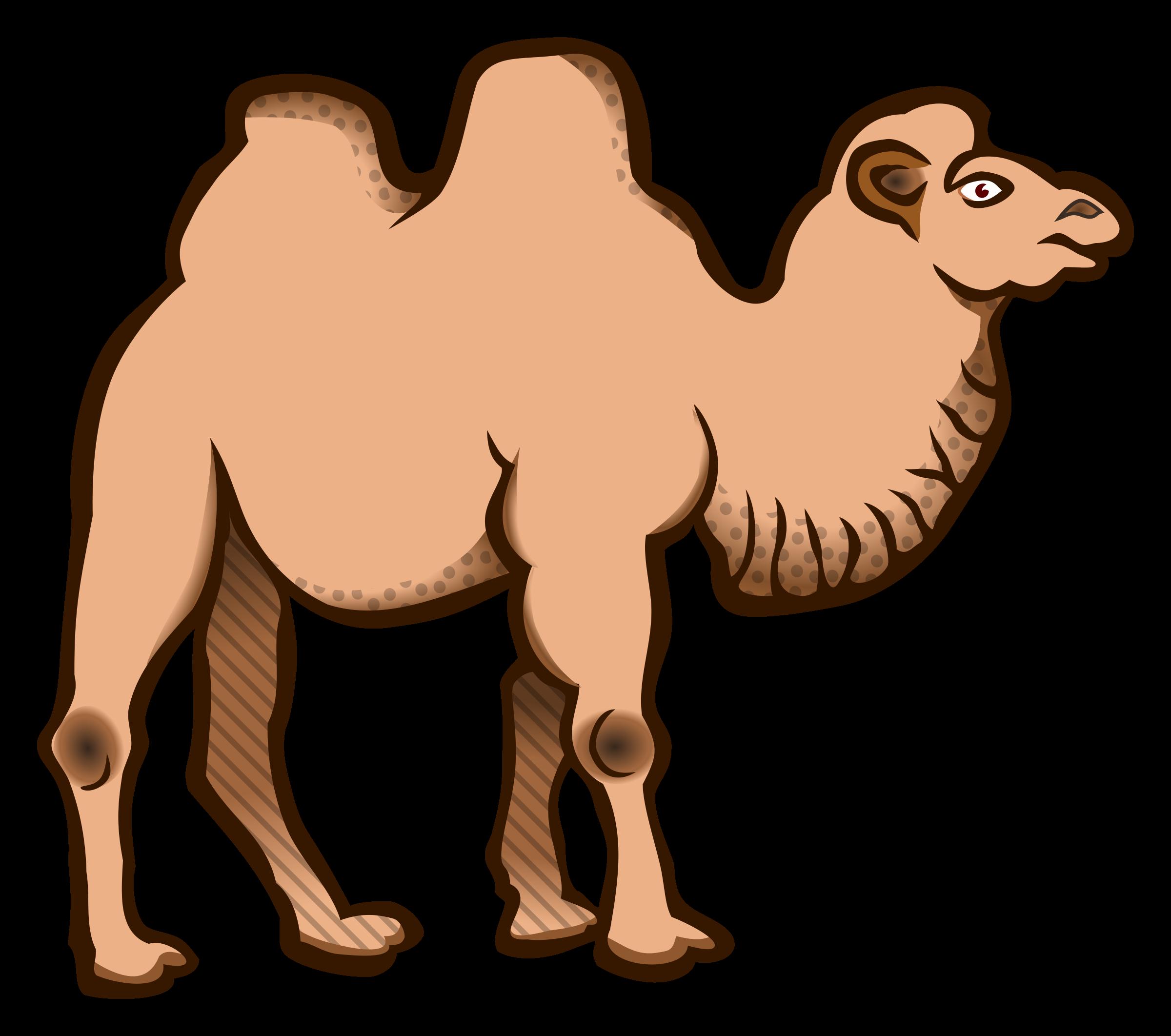 Bactrian camel clipart.