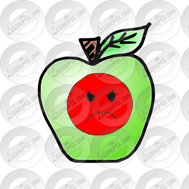 Bad Apple Picture for Classroom / Therapy Use.