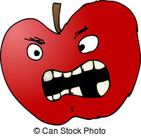 Bad apple Illustrations, Graphics & Clipart.
