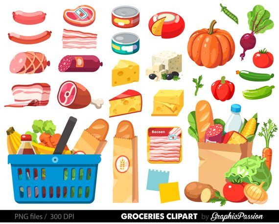This Grocery Clipart Shopping clipart Food Clipart Dinner.