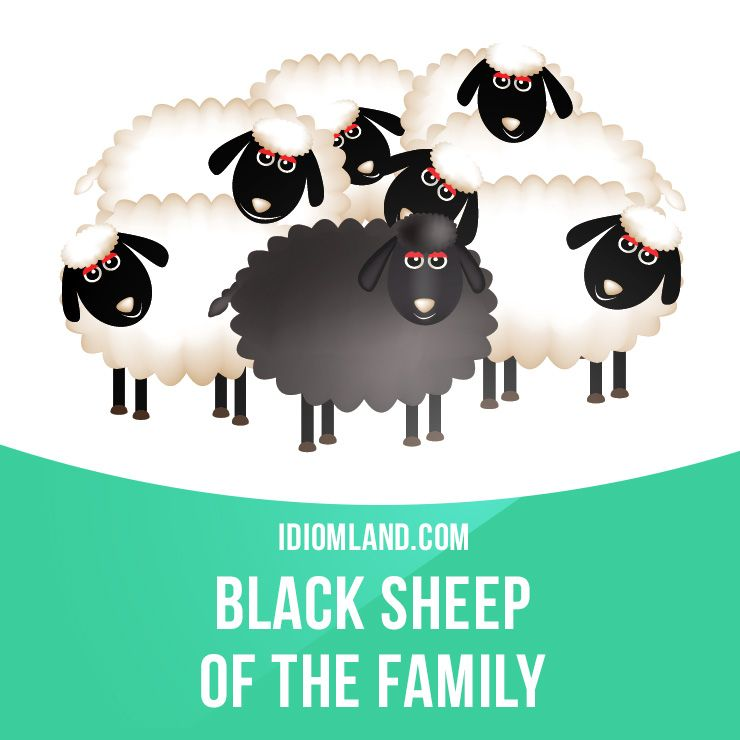 "Black sheep (of the family)"" is someone who is thought to be."