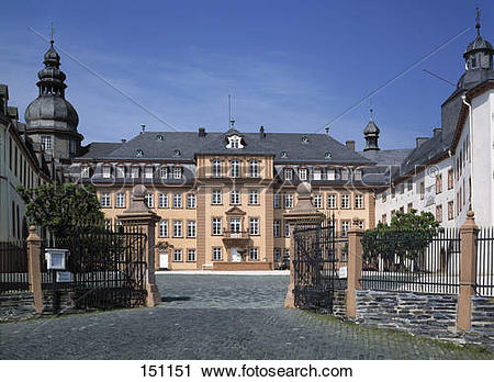 Stock Photography of Facade of castle, Berleburg Castle, Bad.