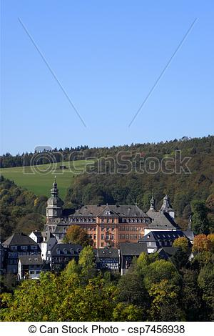 Pictures of Castle Bad Berleburg in Germany.