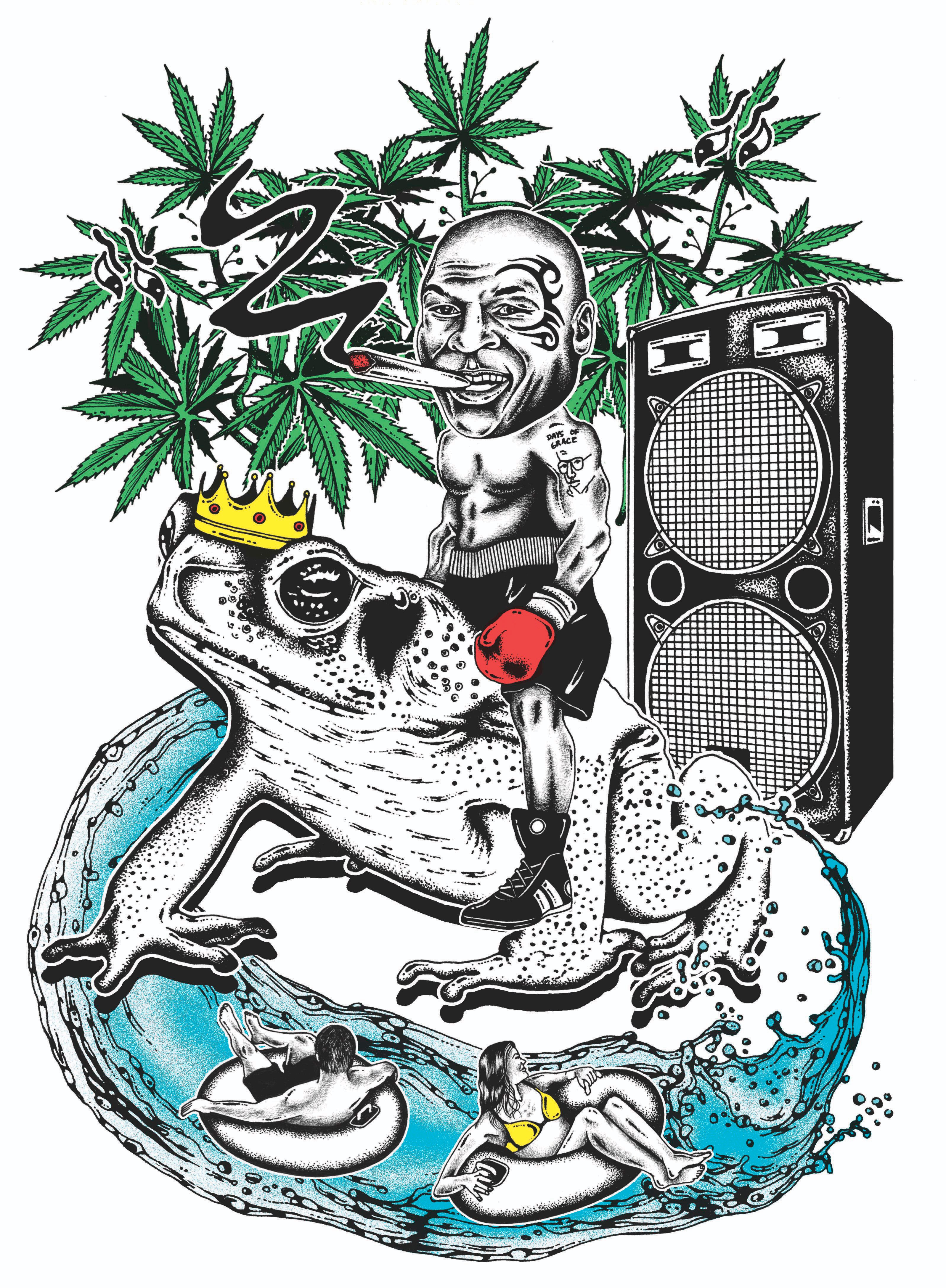 Mike Tyson\'s Weed Resort: The Former Champ Smokes the Toad.