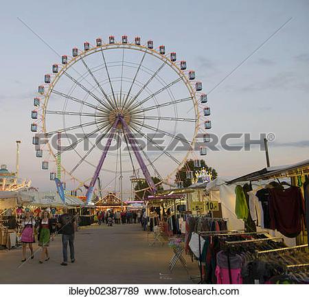 "Stock Photograph of ""Cannstatter Wasen fairground, funfair, Bad."