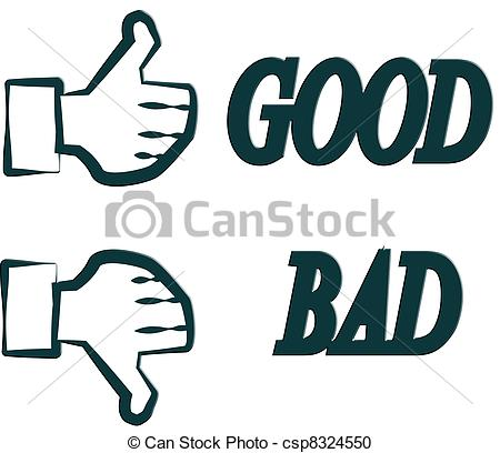 Good bad Clip Art and Stock Illustrations. 7,093 Good bad EPS.