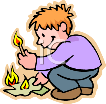 lighting a fire clipart #20