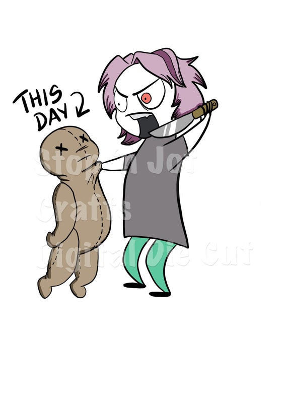 Kill This Day Bad Day Die Cut Digital Clip Art.