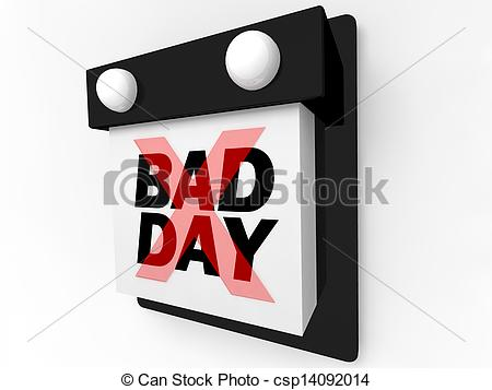 Clipart of Bad Day.