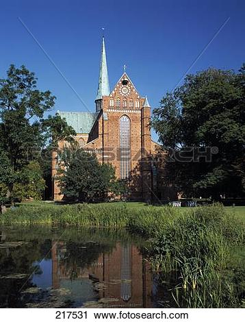 Stock Photography of Swamp in front of church, Bad Doberan.