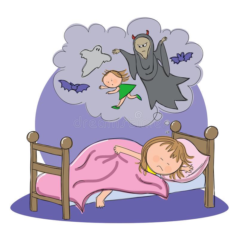 Nightmare Stock Illustrations.