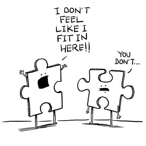 Image result for puzzle pieces don\'t fit.