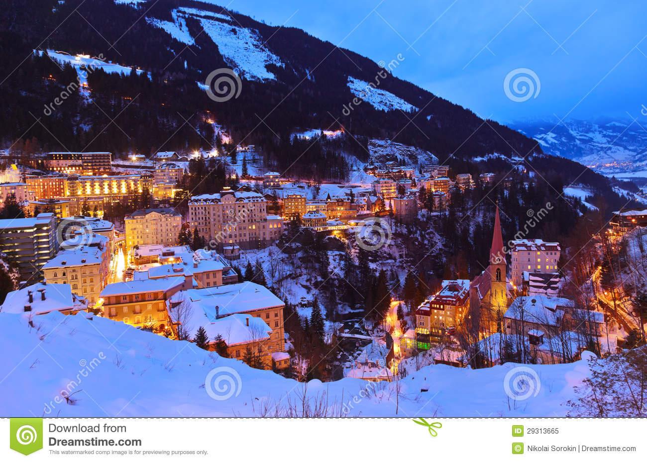 Mountains Ski Resort Bad Gastein Austria Royalty Free Stock Photo.