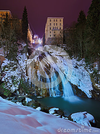 Waterfall In Bad Gastein Royalty Free Stock Images.