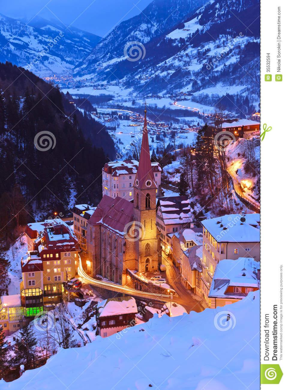 Mountains Ski Resort Bad Gastein Austria Stock Images.