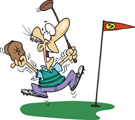 Golf Cartoons Clipart.