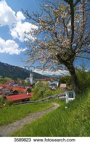 Stock Photo of Way of the Cross, Bad Hindelang, Allgaeu, Bavaria.