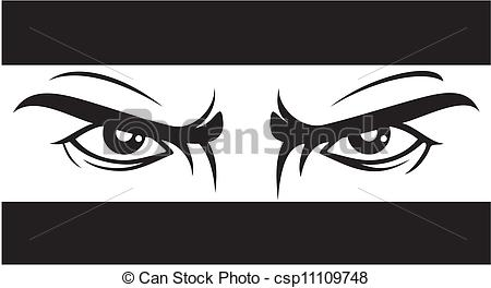 EPS Vector of angry look (Bad eyes) csp11109748.