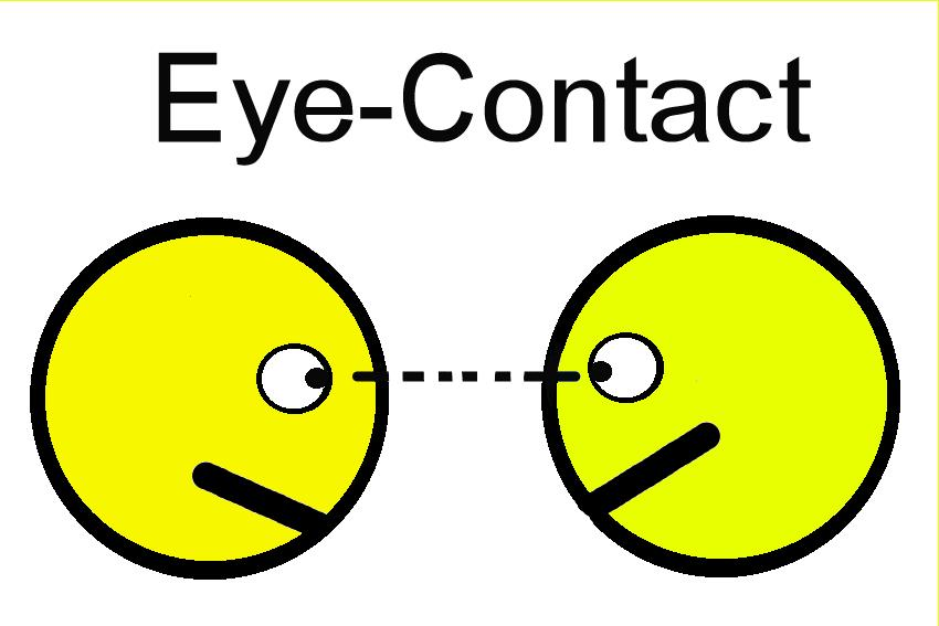 Clipart bad eye contact.