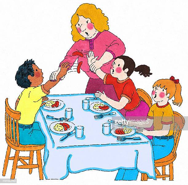 28 Bad Table Manners Stock Illustrations, Clip art, Cartoons & Icons.