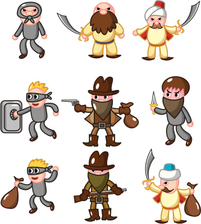 Bad clipart of people.