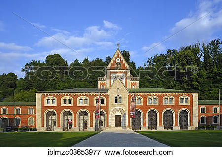 """Picture of """"Alte Saline, old salt refinery, main building, Bad."""