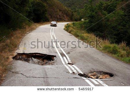 Bad road clipart #20