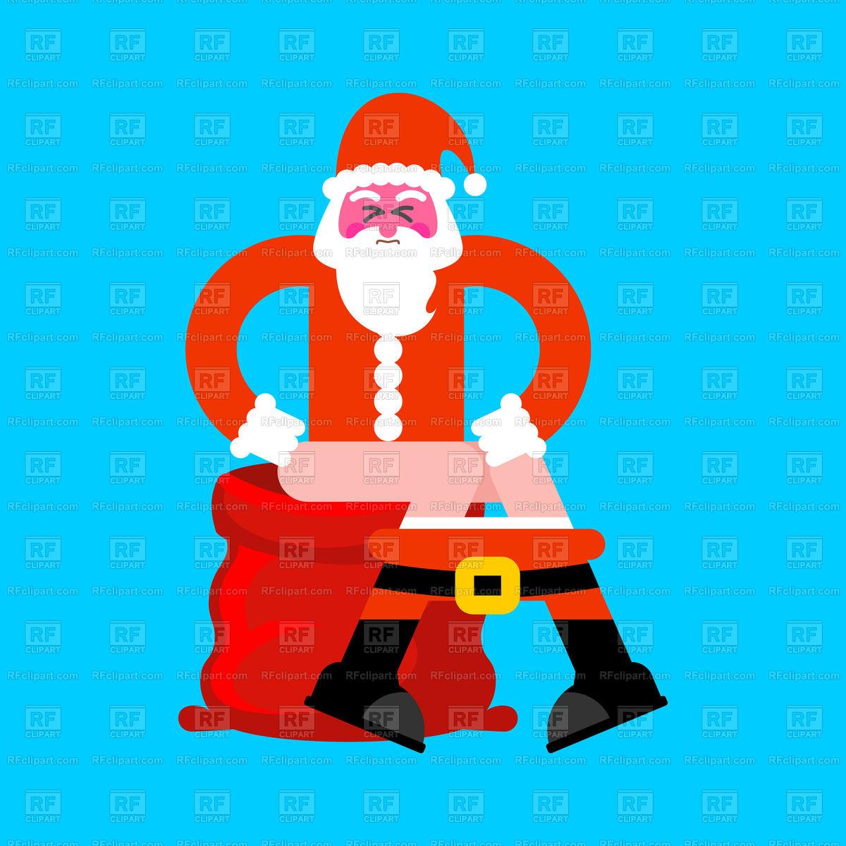 Bad Santa on toilet.