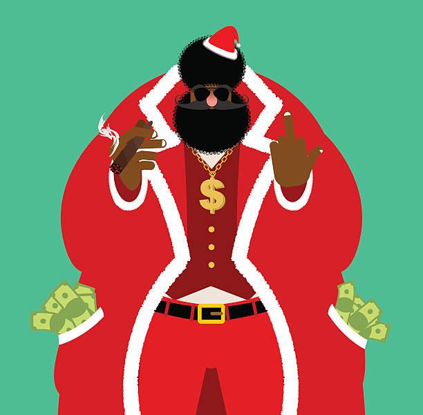 Best Bad Santa Illustrations, Royalty.