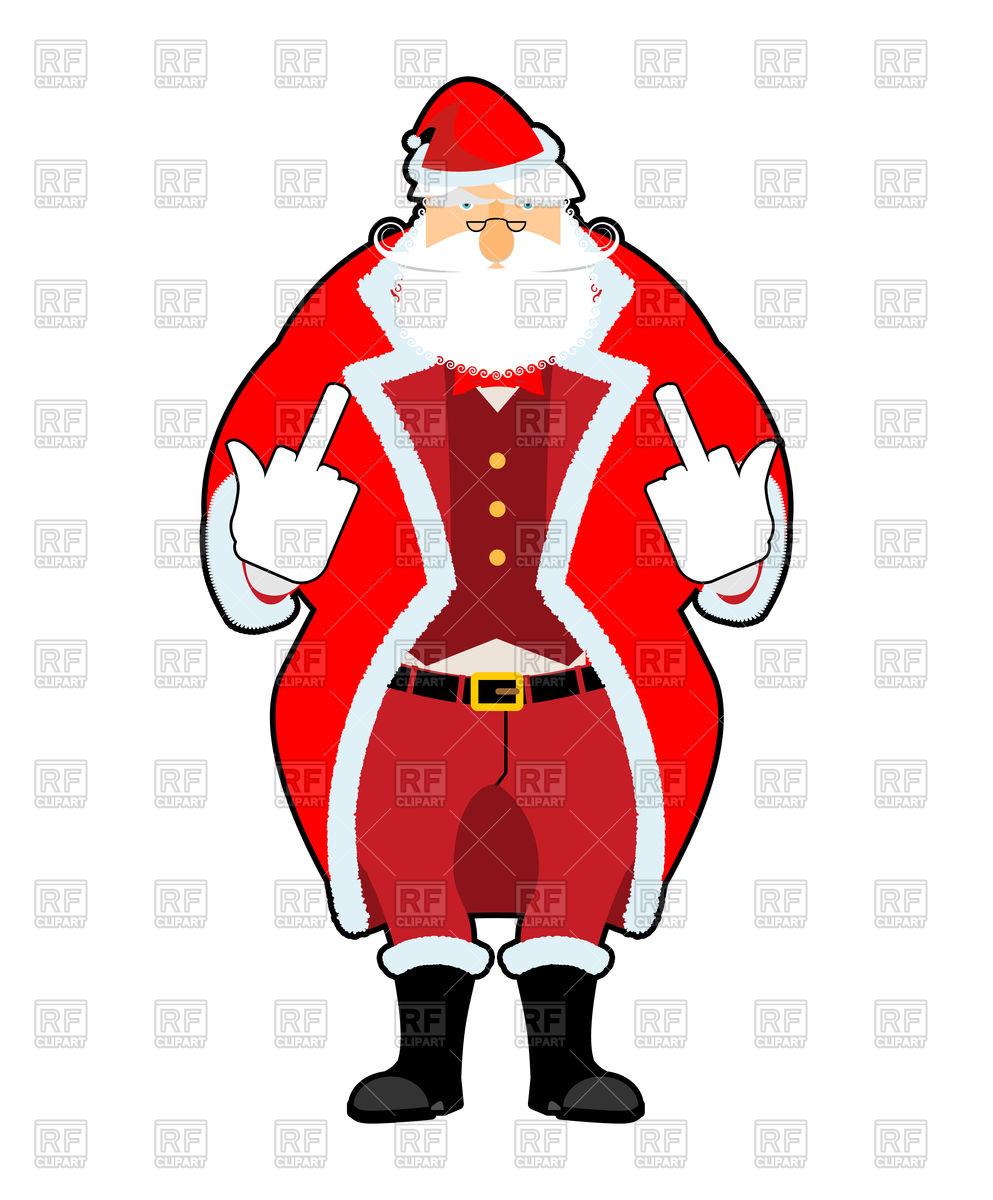 Bad Santa shows to fuck Stock Vector Image.