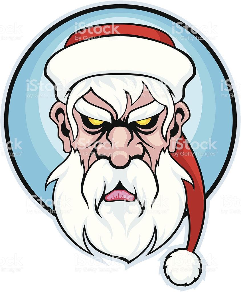 Bad Santa Mascot Stock Illustration.