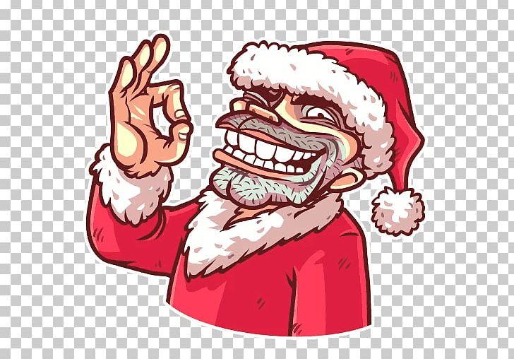 Sticker Telegram Santa Claus VKontakte PNG, Clipart, Art.