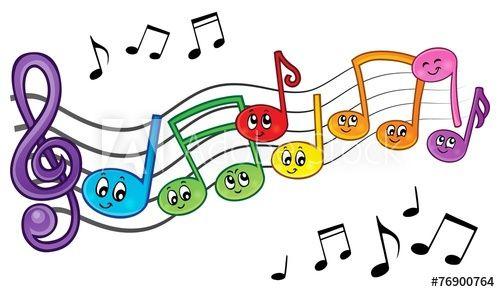 Cartoon music notes theme image 2.