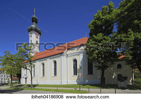 Pictures of Muhlfeldkirche, Mariahilf pilgrimage church, Bad Tolz.