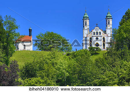 Stock Photography of Holy Cross Church with Leonhard Chapel.