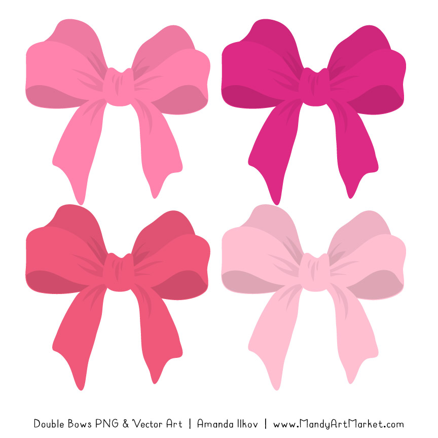Free Pink Party Bow Clipart.