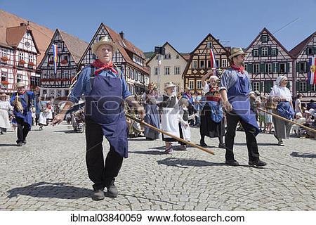 "Stock Photograph of ""Historical parade, Schaferlauf festival, Bad."