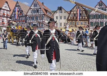 "Stock Image of ""Historical parade, Schaferlauf festival, Bad Urach."