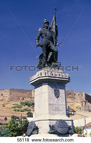 Pictures of Low angle view of monument, Hernan Cortes Monument.