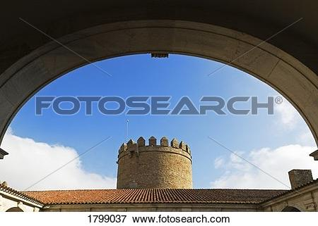 Picture of Castle at Zafra, now a Spanish Parador, Badajoz.