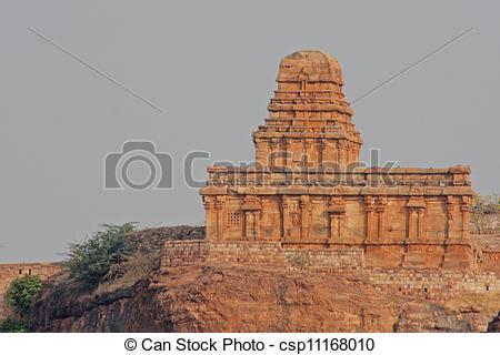 Stock Photography of Beautiful ancient temple in Badami, Karnataka.