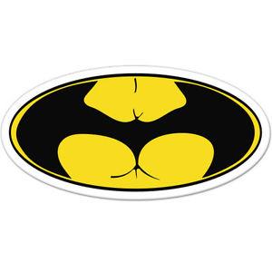 "Batass Funny Badass Adult Humor car bumper sticker decal 6"" x."